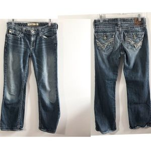 Big Star Remy low rise boot cut jeans 28 R